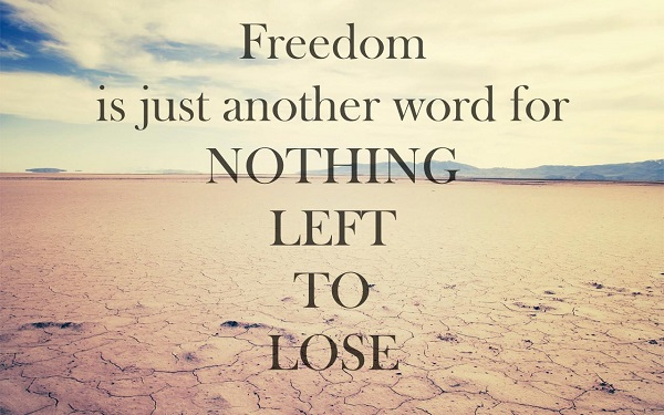 Living a free life quote